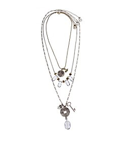 Erica Lyons® Two-Tone 7 Ways-To-Wear Bird, Beads And Ring Necklace Set