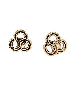 Erica Lyons® Goldtone Hello Sailor Knot Clip Earrings