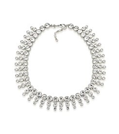 Carolee® Silvertone Broadway Lights Dramatic Collar Necklace