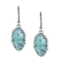 The Sak® Silvertone Irregular Stone Drop Earrings