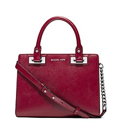 MICHAEL Michael Kors® Quinn Small Patent Saffiano Leather Satchel