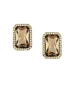 Vince Camuto™ Goldtone Pave Stone Clip Earrings