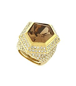 Vince Camuto™ Goldtone Asymmetric Stone Cocktail Ring