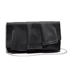 La Regale® Satin Cascade Pleated Clutch
