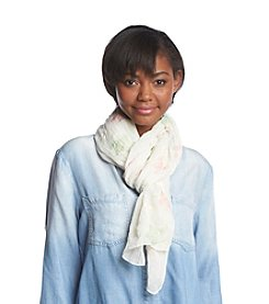 Basha Embroidered Florettes Neck Wrap