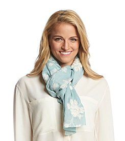 Basha Embroidered Flowers Neck Wrap