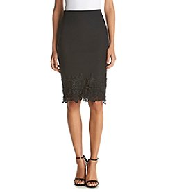 AGB® Lace Pencil Skirt