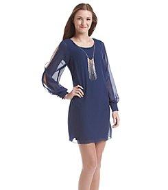 A. Byer Sheer Open Sleeve Dress