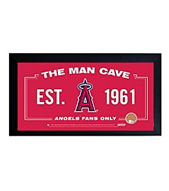 MLB® Los Angeles Angels Man Cave Sign with Authentic Game Used Dirt