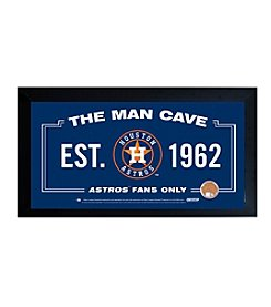 MLB® Houston Astros Man Cave Sign with Authentic Game Used Dirt