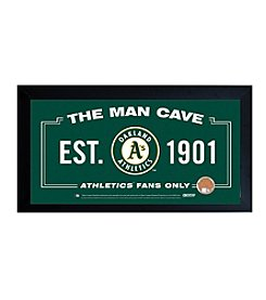 MLB® Oakland Athletics Man Cave Sign with Authentic Game Used Dirt