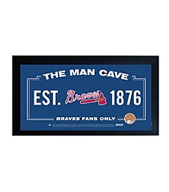 MLB® Atlanta Braves Man Cave Sign with Authentic Game Used Dirt