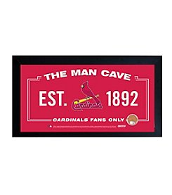 MLB® St. Louis Cardinals Man Cave Sign with Authentic Game Used Dirt