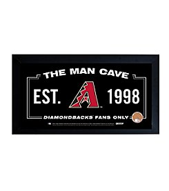 MLB® Arizona Diamondbacks Man Cave Sign with Authentic Game Used Dirt