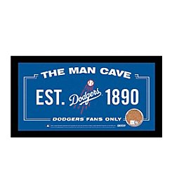 MLB® Los Angeles Dodgers Man Cave Sign with Authentic Game Used Dirt