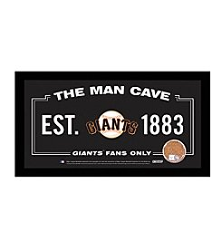MLB® San Francisco Giants Man Cave Sign with Authentic Game Used Dirt