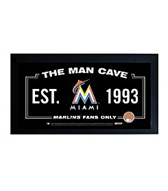 MLB® Miami Marlins Man Cave Sign with Authentic Game Used Dirt