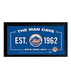 MLB® New York Mets Man Cave Sign with Authentic Game Used Dirt
