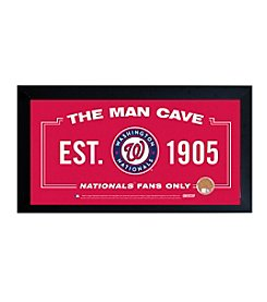 MLB® Washington Nationals Man Cave Sign with Authentic Game Used Dirt