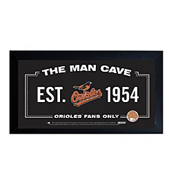 MLB® Baltimore Orioles Man Cave Sign with Authentic Game Used Dirt