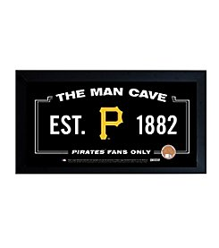 MLB® Pittsburgh Pirates Man Cave Sign with Authentic Game Used Dirt