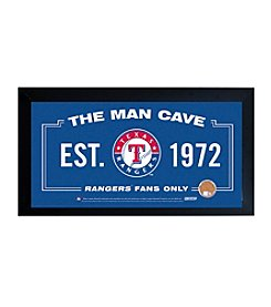 MLB® Texas Rangers Man Cave Sign with Authentic Game Used Dirt