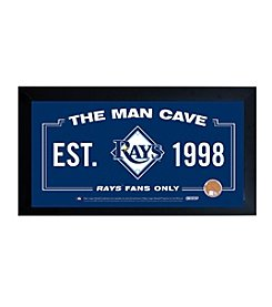 MLB® Tampa Bay Rays Man Cave Sign with Authentic Game Used Dirt