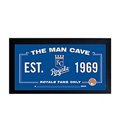 MLB® Kansas City Royals Man Cave Sign with Authentic Game Used Dirt