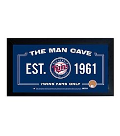 MLB® Minnesota Twins Man Cave Sign with Authentic Game Used Dirt