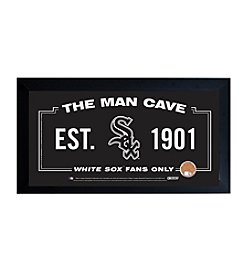 MLB® Chicago White Sox Man Cave Sign with Authentic Game Used Dirt