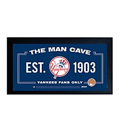 MLB® New York Yankees Man Cave Sign with Authentic Game Used Dirt