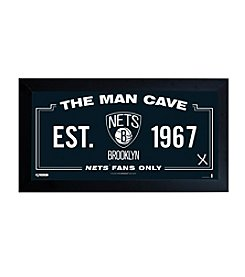 NBA® Brooklyn Nets Man Cave Sign with Used Game Net
