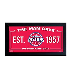 NBA® Detroit Pistons Man Cave Sign