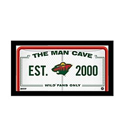 NBA® Minnesota Wild Man Cave Sign
