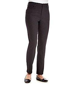 Gloria Vanderbilt® Petites' Amanda Lace Jacquard Print Jeans