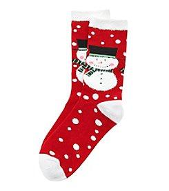 Legale® Snowman Crew Socks