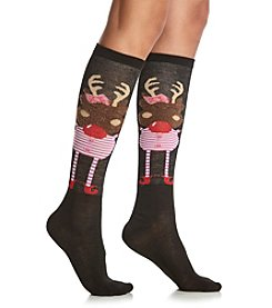 Legale® Reindeer Knee High Socks