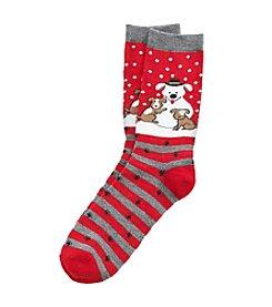 Legale® Snow Dog Crew Socks
