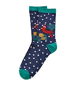 Legale® Christmas Cardinal Holiday Crew Socks