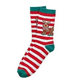 Legale® Reindeer Stripe Socks
