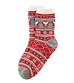 Legale® Duo Layer Santa Slipper Socks