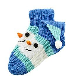 Legale® Handknit Snowman Slipper Socks