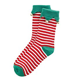 Legale® Jingle Bell Cuff Crew Socks