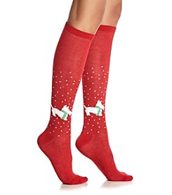 Legale® Let It Snow Scottie Knee High Socks