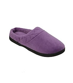 Dearfoams Microfiber Velour Clogs with Quilted Cuff