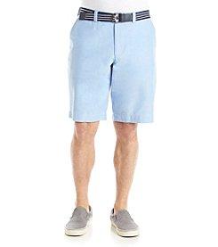 Le Tigre Men's Oxford Belted Shorts