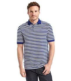 John Bartlett Consensus Men's Short Sleeve Feeder Stripe Pique Polo