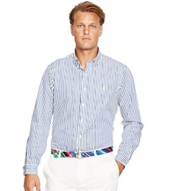 Polo Ralph Lauren® Men's Big & Tall Long Sleeve Striped Button Down Shirt