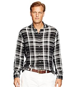 Polo Ralph Lauren® Men's Big & Tall Long Sleeve Brownstone Plaid Button Down Shirt