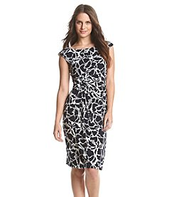 Connected® Ruched Floral Patterned Dress